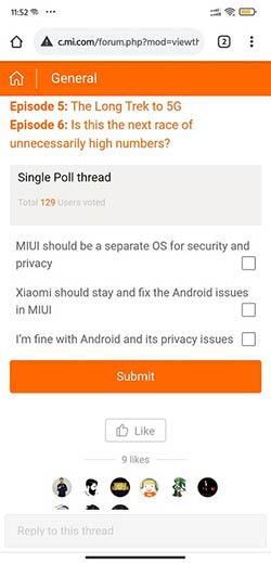 Опрос о выделении MIUI в отдельную ОС