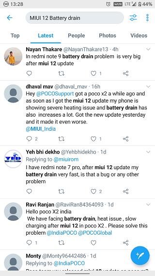 Xiaomi известно, что MIUI 12 сильно разряжает аккумулятор