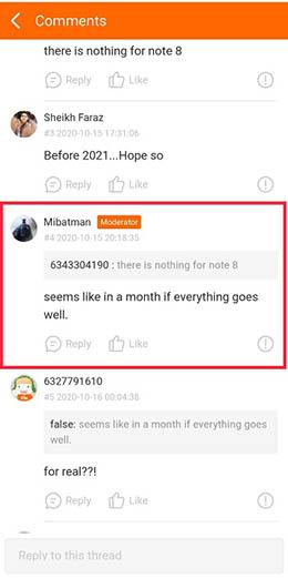 MIUI 12 для Redmi Note 8 может выйти только через месяц
