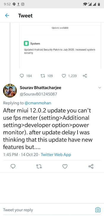 Пользователи жалуются на проблемы с MIUI 12 на Pocophone F1