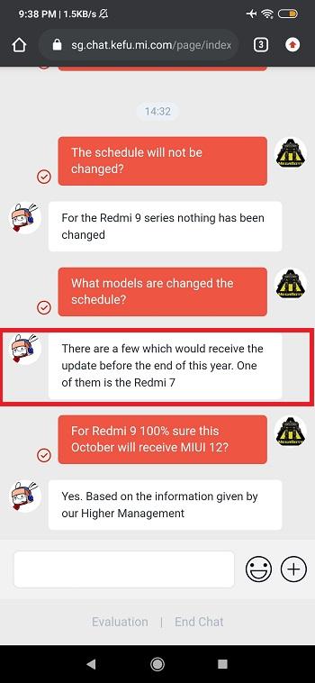 MIUI 12 для Redmi 7 и Redmi 8 выйдет в конце года