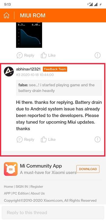 MIUI 12 чрезмерно разряжает аккумулятор Redmi Note 8 Pro