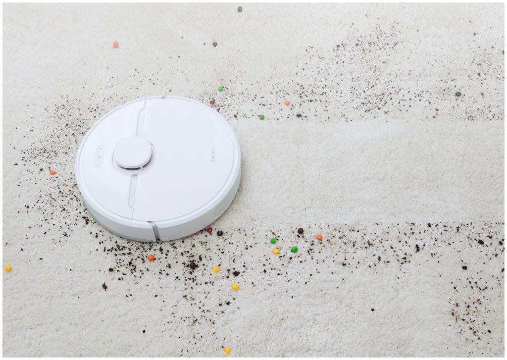 Dreame D9 Robot Vacuum выполняет сухую уборку