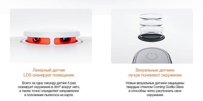Xiaomi Mi Robot 1S Sweeping Vacuum Cleaner с улучшенным лазерным датчиком